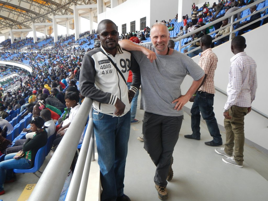 Israel and I at the National Heroes stadium