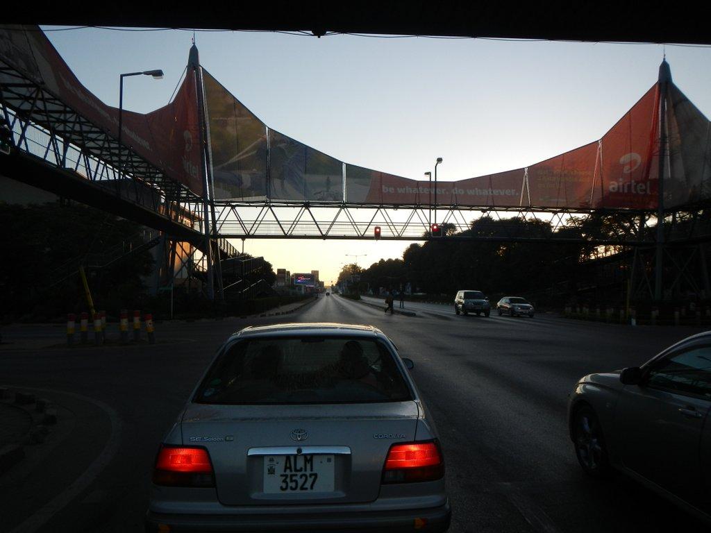 Leaving Lusaka