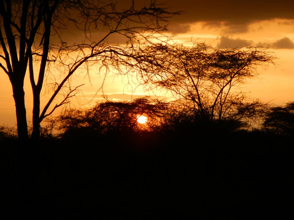 My first ever sunset over the magical Serengeti