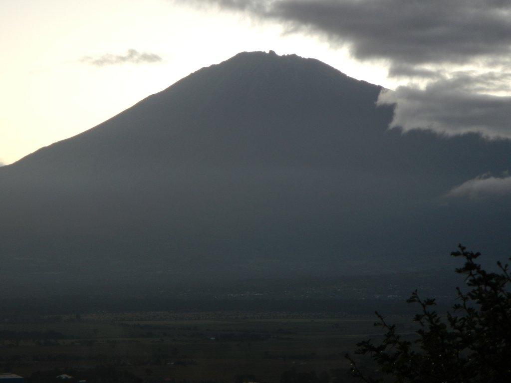 Mount Meru from Tim's front garden