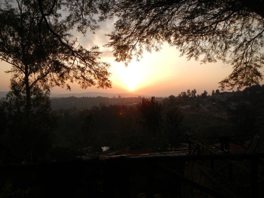 Sunrise and Rwandan coffee