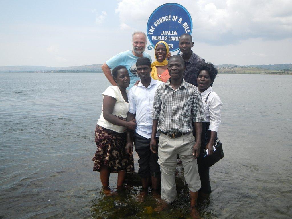 Mzungu and the staff.