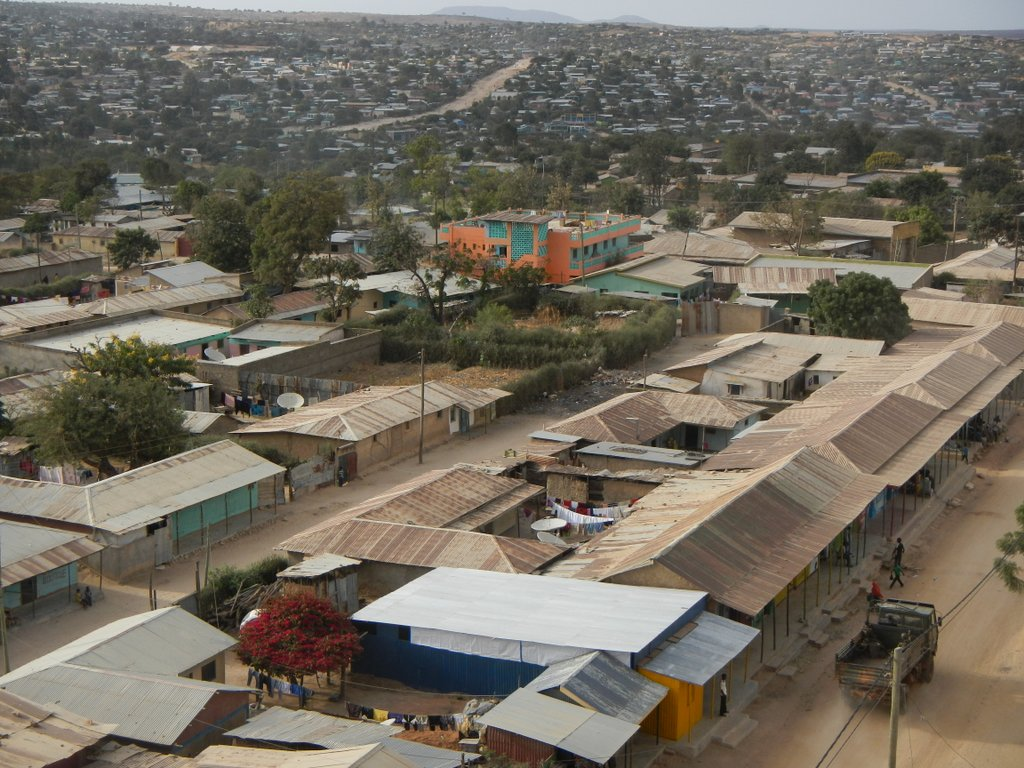 Moyale from the hotel top balcony .