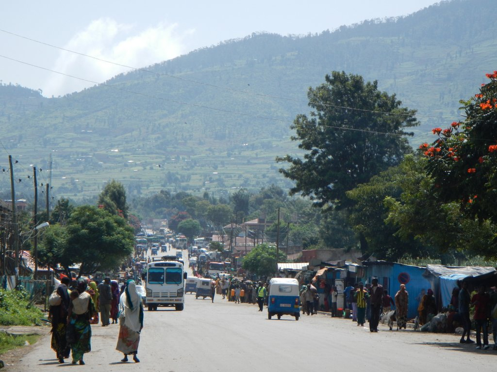 Smaller villages one passes through en route to Harar . Still very busy .