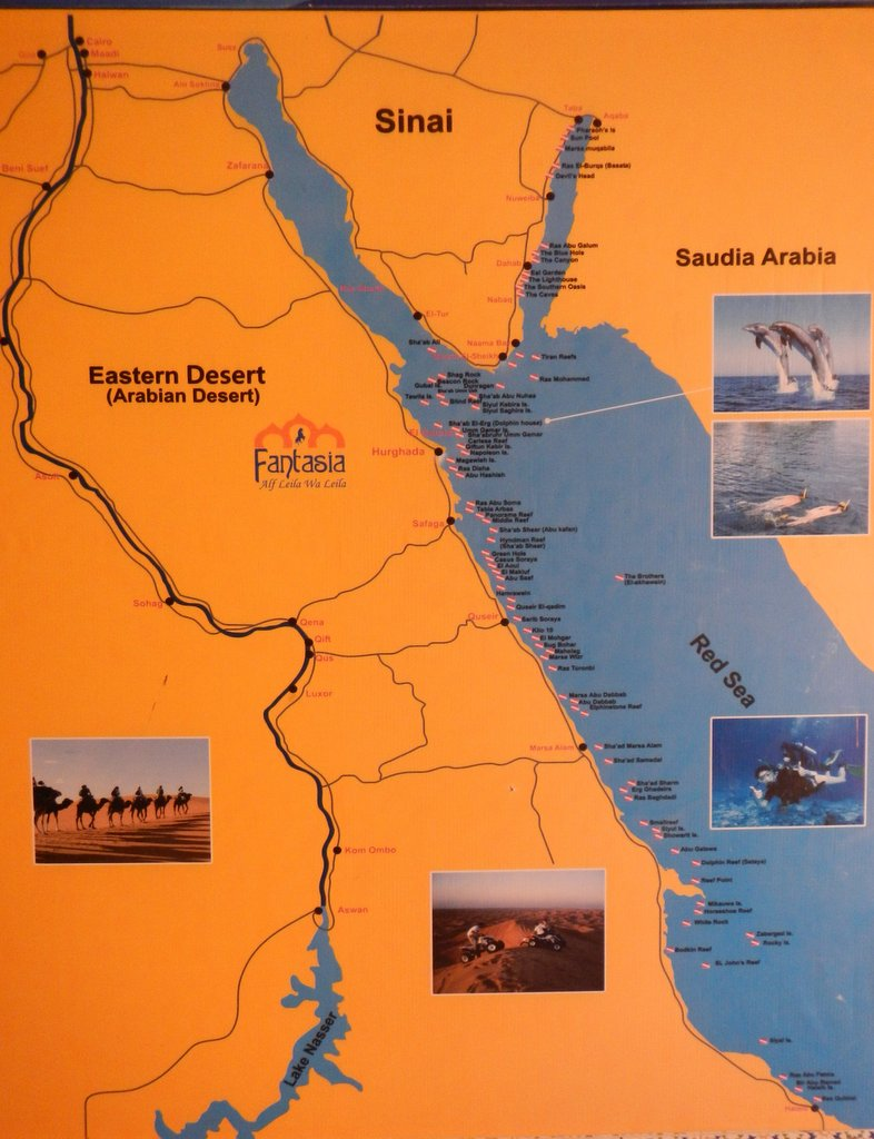 The route from Lake Nasser to Sharm and beyond .