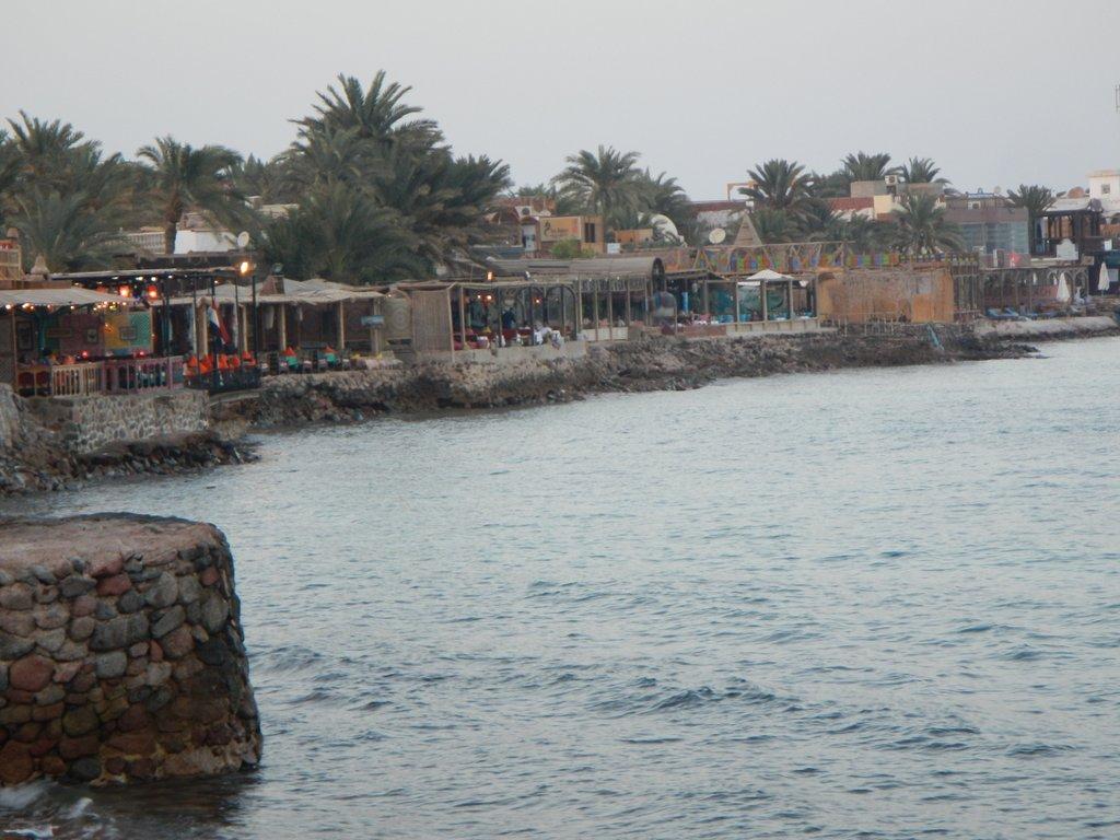 Seafront restaurants.