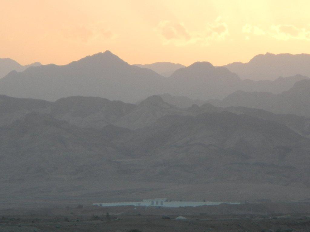Sunset over the Sinai .