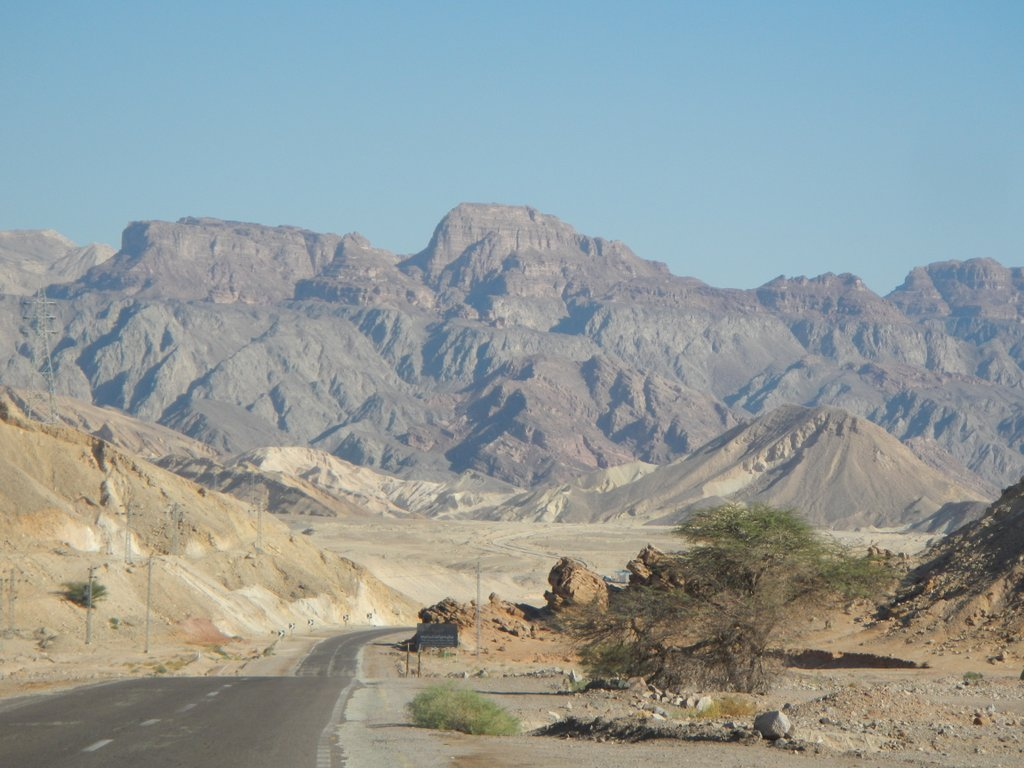 The ride up to Eilat