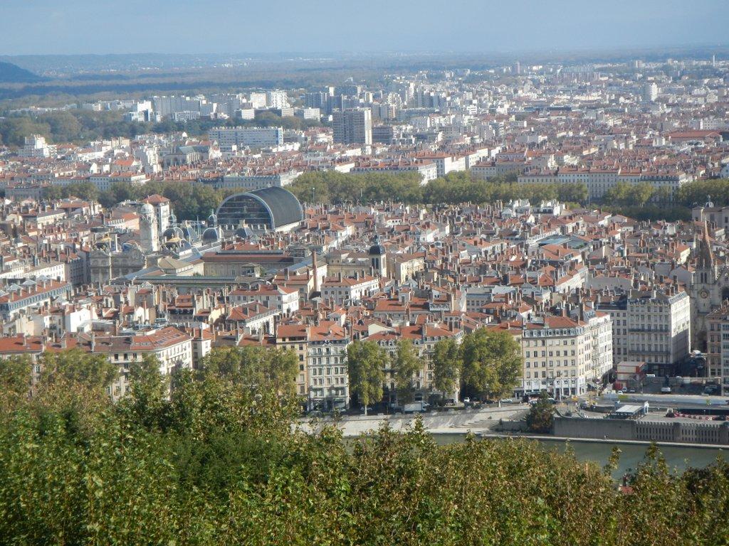 City below .