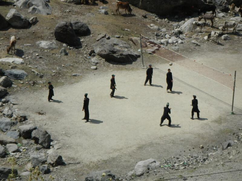 The world has beach volleyball Pakistan has thin nountain air breathtaking views volleyball.